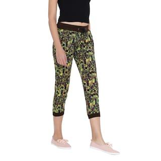 For Cult Trouser Color Women's Lycra Fashion multi Printed Cotton ZwBBxv