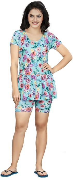 Fashion Fever Women Polyester Printed Cover up - Multi