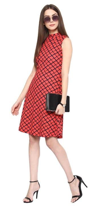 Orange Flavor Fashion Dress Women's A line SqTf1xn6