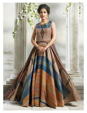 Fashion Founder multicolor Chanderi Cotton Party wear Gown PMG-1011