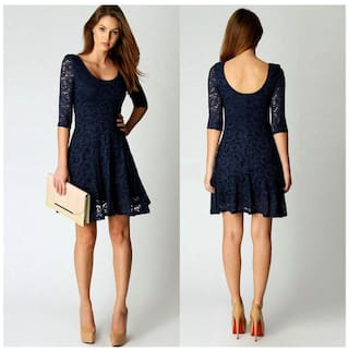 Evening L Mini Half Fashion Dress Short Party Lace Women Sleeve CwPXUvq