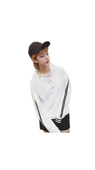 Long Hoodie Sleeve Sweatshirt Women Fashion Sweater Loose 5nST0x5Oq