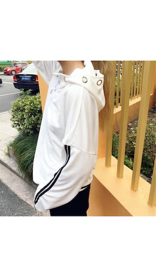 Loose Sweater Hoodie Sleeve Long Sweatshirt Fashion Women nwOgvqF8wt