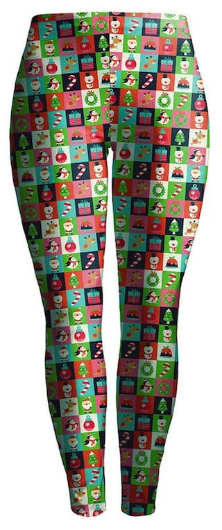 Stretchy MR Skinny S Pants Women Fashion Leggings Lady Printed Christmas a4wCnxOXq