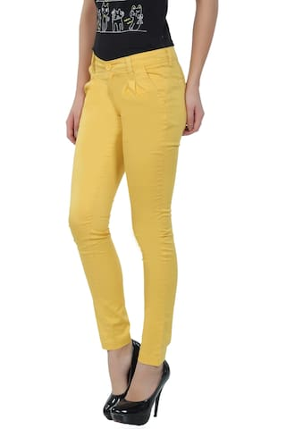 fashionstylus Yellow cotton cotton Yellow trouser fashionstylus g0xOnHwqz