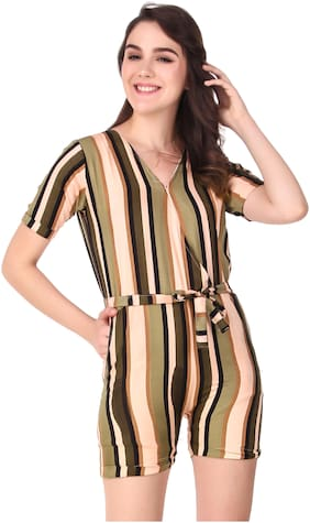 Fasnoya Striped Romper - Green