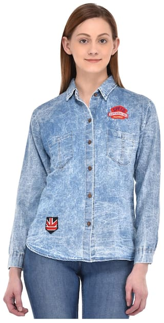 Fasnoya Denim Shirts for Women