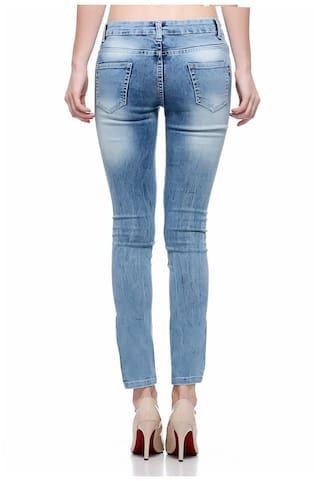 Pasting with Women Distressed Jeans j801d Fasnoya for Inside P6xqn