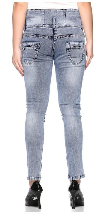 Jeans for Waist Women Distressed Fasnoya High qZ7wHHY