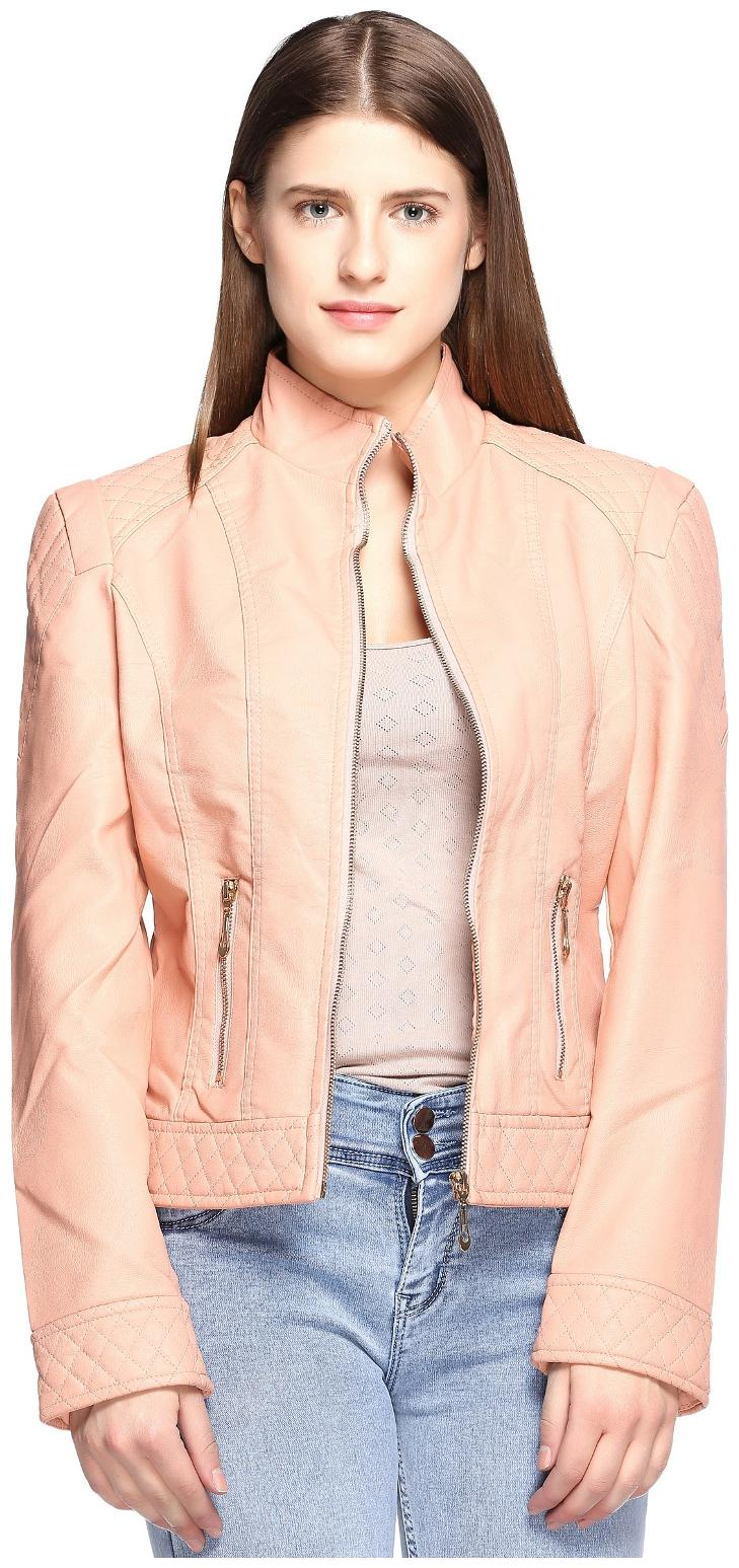Fasnoya Women Solid Regular Jacket   Pink