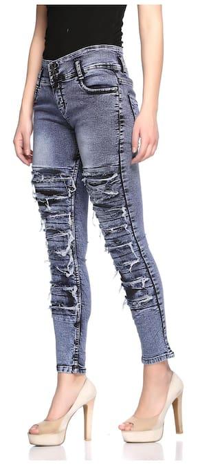 Buttons Fasnoya 3 Jeans Women's Distressed tUUqw16
