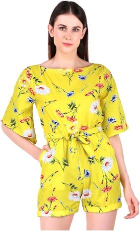 Fasnoya Floral Jumpsuit - Yellow