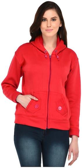 Fasnoya Women Solid Puffer jacket - Red
