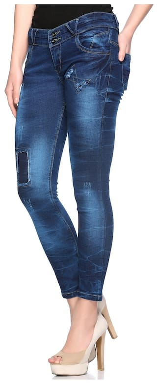 Distressed Up Women's Jeans Fit Fasnoya Patched Skinny amp; TpwUn5Zq