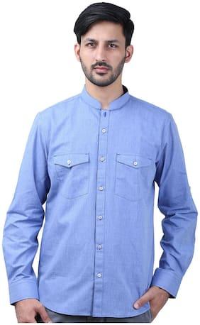 Men Super Slim Fit Solid Casual Shirt