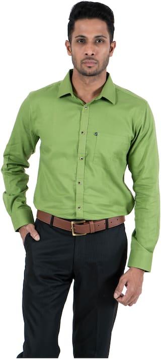 FAVIO Men Slim fit Formal Shirt - Green