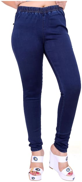 FCK-3 Blue Denim Comfort Fit Jegging (Size-28)