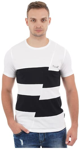 Men Crew Neck Striped T-Shirt