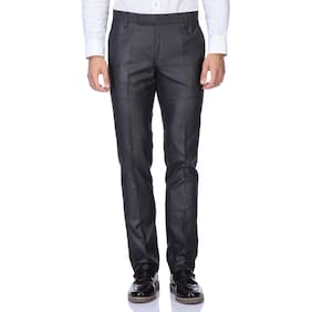 Febulous Black Formal Trouser For Mens