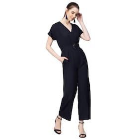 Femella Solid Jumpsuit - Black
