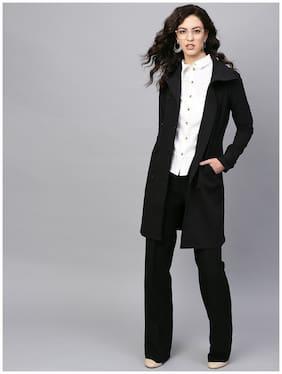 Femella Women Solid Regular jacket - Black