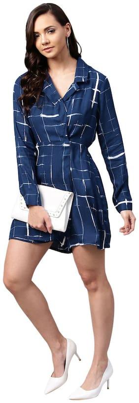 Femella Printed Jumpsuit - Blue