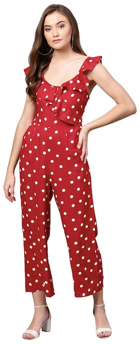 Femella Printed Jumpsuit - Red