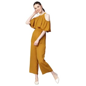 Femella Solid Jumpsuit - Yellow