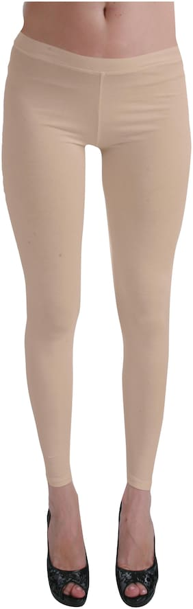 Femmora Blended Solid Cream Color Leggings