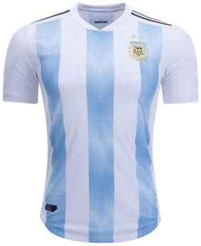 Fifa world cup Argentina White Blue National Team Jersey Thai Quality