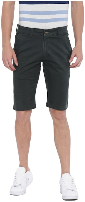 Fifty Two Men Grey Regular Fit Chinos Shorts