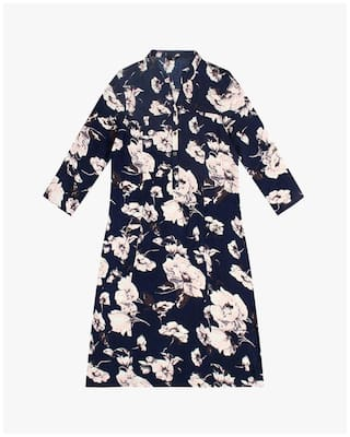Trends Dress Rayon Blue FIG Reliance By Pwqf0