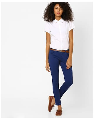 Fig Navy Reliance Trends Trouser By Blue Women Relaxed rzqAr6w