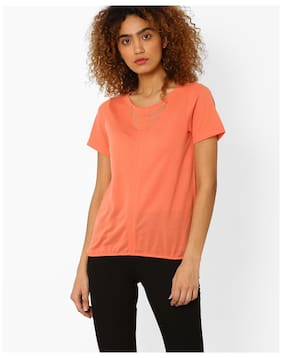 0a866d2ab5abf FIG By Reliance Trends Women Orange Polyester Top
