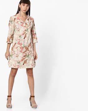 d49be5b775 Fig By Reliance Trends Women Beige Dress