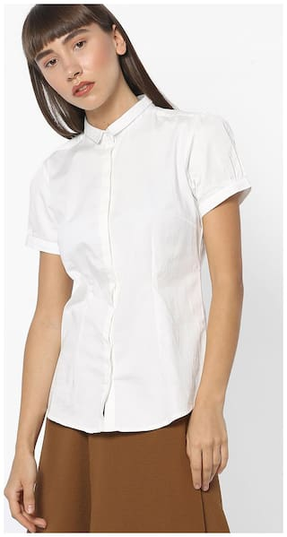 Fig By Reliance Trends Women Regular Fit Shirt - White