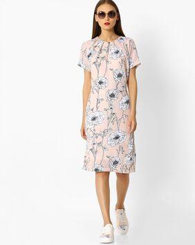 Fig By Reliance Trends Women Orange Dress