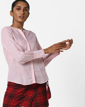 Fig By Reliance Trends Women Body Fit Shirt - Red