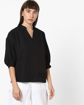 Fig By Reliance Trends Women Regular Fit Shirt - Black