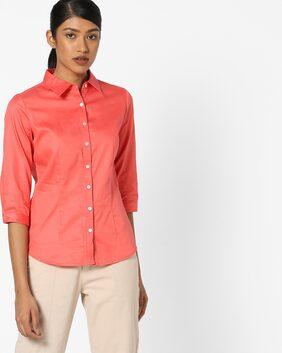 Fig By Reliance Trends Women Regular Fit Shirt - Red
