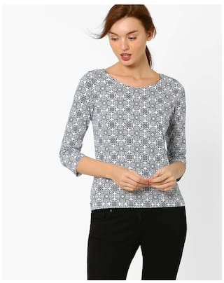 019dc999e167c Buy Fig By Reliance Trends Grey Women s T Shirt Online at 50% off ...