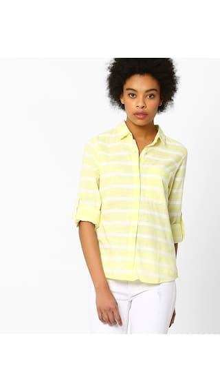 Shirt Cotton Reliance Yellow By FIG Trends Women nFYwxXnqB