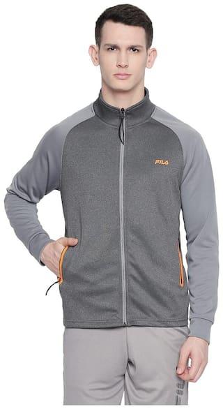 Fila Men Polyester Jacket - Grey