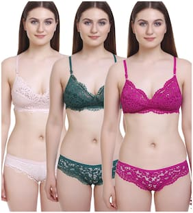 FIMS Lace T-shirt bra - 3 Lingerie Set