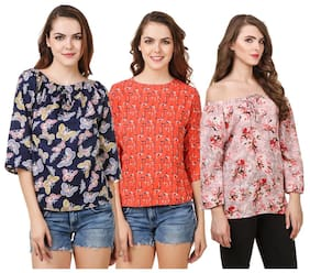 Fine Women Embroidered Regular top - Multi