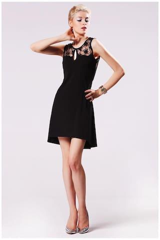 Stylish Lace Fashion Backless Sexy Women's Dress Neck O Splicing Sleeveless Finejo 8gqpEwd8
