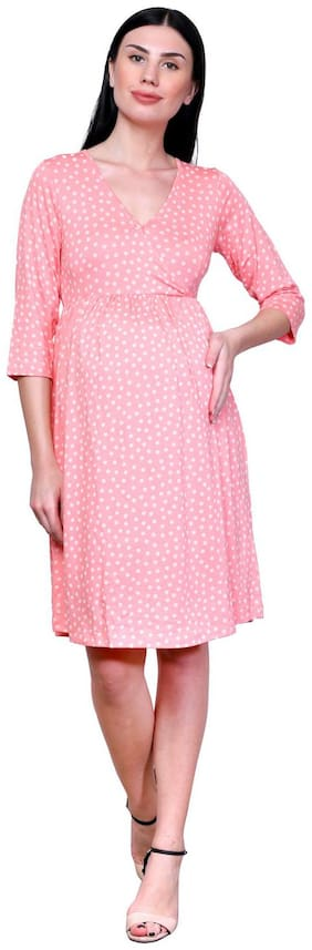 FINESSE MIRACLE CAMI Women Maternity Dress - Pink Xl