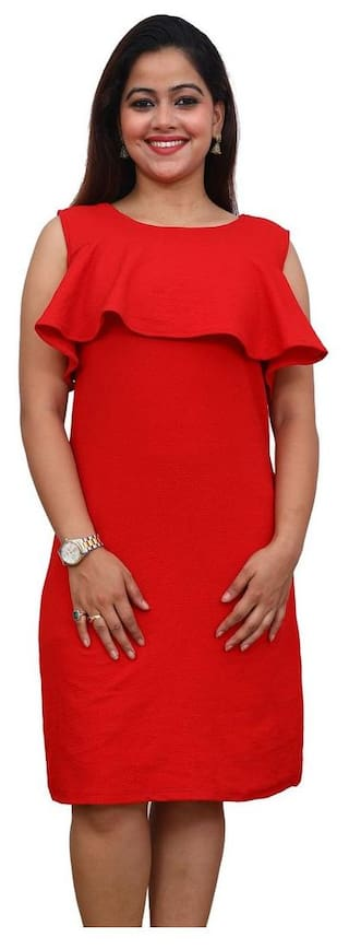 DRESS RED FIRST DATE POLY COTTON qfBwx1nIw