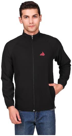 FITINC Men Black Solid Sports jacket