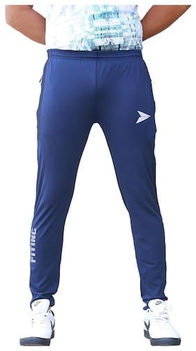Fitinc Apparels Men Lycra Track Pants - Navy blue